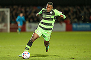 Forest Green Rovers Dale Bennett during the Vanarama National League match between Cheltenham Town and Forest Green Rovers at Whaddon Road, Cheltenham, England on 21 November 2015. Photo by Shane Healey.