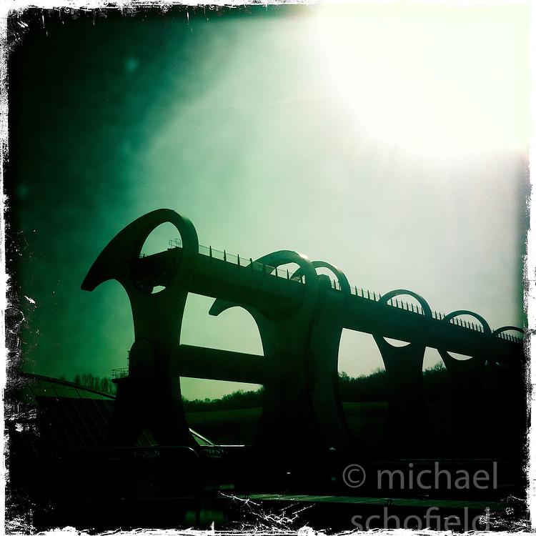 Falkirk Wheel..Hipstamatic images taken on an Apple iPhone..©Michael Schofield.