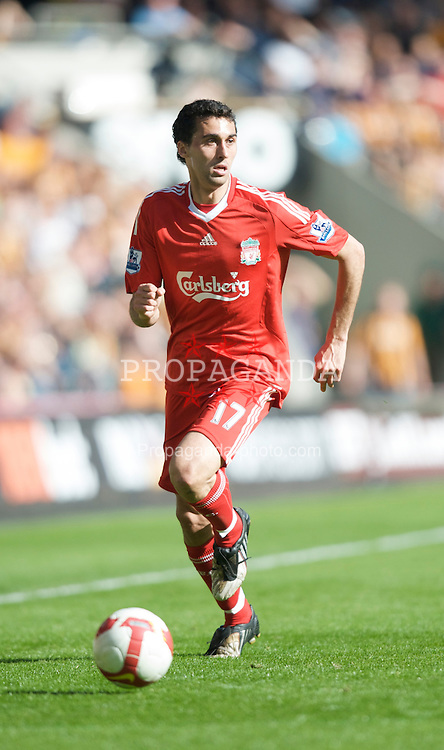 HULL, ENGLAND - Saturday, April 25, 2009: Liverpool's Alvaro Arbeloa in action against Hull City during the Premiership match at the KC Stadium. (Photo by David Rawcliffe/Propaganda)