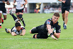 Durban. 100318. Durban. 100318.  Jacques Vermeulen of the Cell C Sharks during the Super Rugby match between Cell C Sharks and Sunwolves at Jonsson Kings Park Stadium on March 10, 2018 in Durban, South Africa Picture Leon Lestrade/African News Agency/ ANA