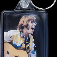John Sebastian - Key Fob with image approx. 35mm x 50mm from 1970 Isle of Wight Music Festival exhibition on the front. The reverse has an exclusive CameronLife  1970 IW festival design