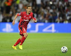 Sevilla's Fernando Navarro - Photo mandatory by-line: Joe Meredith/JMP - Mobile: 07966 386802 12/08/2014 - SPORT - FOOTBALL - Cardiff - Cardiff City Stadium - Real Madrid v Sevilla - UEFA Super Cup