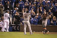 MLB Baseball: World Series: San Francisco Giants vs. Kansas City Royals<br /> Game Action: Game 7<br /> Kauffamann Stadium /Kansas City, MO, USA<br /> 10/29/2014<br /> X158879 TK2<br /> Credit: Jed Jacobsohn