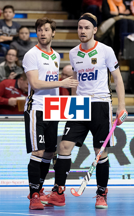 BERLIN - Indoor Hockey World Cup<br /> Men: Germany -  Trinidad &amp; Tobago<br /> foto: Martin Zwicker and Christopher R&uuml;hr.<br /> WORLDSPORTPICS COPYRIGHT FRANK UIJLENBROEK