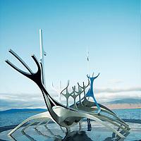 Viking memorial statue at Reykjavik