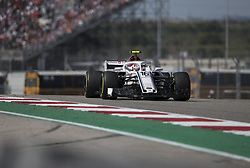 October 21, 2018 - Austin, USA - Alfa Romeo Sauber driver Charles Leclerc (16) of Monaco heads into Turn 7 during the Formula 1 U.S. Grand Prix at the Circuit of the Americas in Austin, Texas on Sunday, Oct. 21, 2018. (Credit Image: © Scott Coleman/ZUMA Wire)