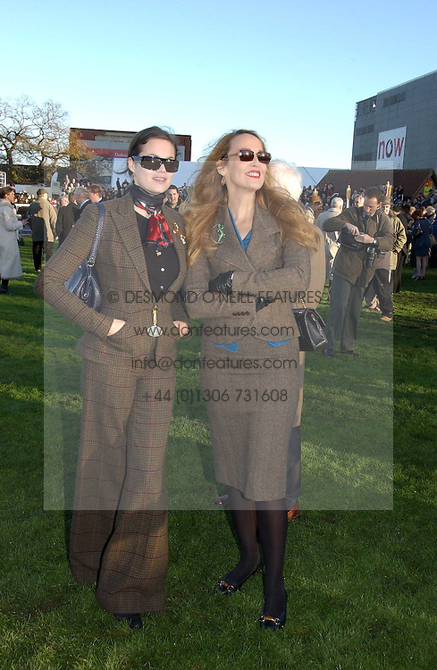 Left to right, JERRY HALL and JASMINE GUINNESS at the 50th running of the Hennessy Gold Cup at Newbury Racecourse, Berkshire on 25th November 2006.<br />