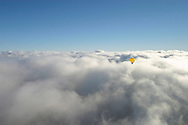 Ballooning above the clouds.<br /> <br /> Larger JPEG + TIFF images available by contacting use through our contact page at :..www.photography4business.com