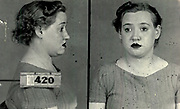 Prostitutes And Madams: Mugshots From When Montreal Was Vice Central<br /> <br /> Montreal, Canada, 1949. Le Devoir publishes a series of articles decrying lax policing and the spread of organized crime in the city. Written by campaigning lawyer Pacifique 'Pax' Plante (1907 – 1976) and journalist Gérard Filion, the polemics vow to expose and root out corrupt officials.<br /> <br /> With Jean Drapeau, Plante takes part in the Caron Inquiry, which leads to the arrest of several police officers. Caron JA's Commission of Inquiry into Public Morality began on September 11, 1950, and ended on April 2, 1953, after holding 335 meetings and hearing from 373 witnesses. Several police officers are sent to prison.<br /> <br /> During the sessions, hundreds of documents are filed as evidence, including a large amount of photos of places and people related to vice.  photos of brothels, gambling dens and mugshots of people who ran them, often in cahoots with the cops – prostitutes, madams, pimps, racketeers and gamblers.<br /> <br /> Photo shows: Irène Lavallée, 1940 – arrested in connection with an investigation related to prostitution.<br /> ©Archives de la Ville de Montréal/Exclusivepix Media