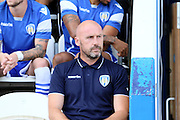 Colchester Utd manager John McGreal before the EFL Sky Bet League 2 match between Colchester United and Cambridge United at the Weston Homes Community Stadium, Colchester, England on 13 August 2016. Photo by Nigel Cole.