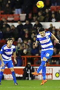 QPR midfielder Alejandro Faurlin heads the ball clear during the Sky Bet Championship match between Nottingham Forest and Queens Park Rangers at the City Ground, Nottingham, England on 26 January 2016. Photo by Aaron Lupton.