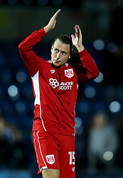 Luke Freeman of Bristol City applauds the fans at full time - Mandatory by-line: Robbie Stephenson/JMP - 09/08/2016 - FOOTBALL - Adams Park - High Wycombe, England - Wycombe Wanderers v Bristol City - EFL League Cup