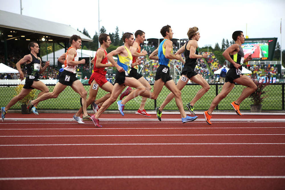 Olympic Trials Eugene 2012: 3000 meter steeplechase, Donn Cabral leads pack