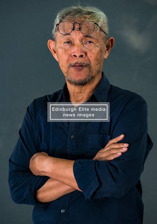 Pictured: Edinburgh International Book Festival, Edinburgh, Scotland, United Kingdom, 24 August 2019. Pictured: Goenawan Mohamad, an Indonesian poet, essayist, playwright and editor, discusses his life and work at the book festival today.<br /> Sally Anderson | EdinburghElitemedia.co.uk