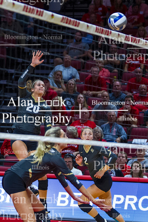 BLOOMINGTON, IL - September 14: McKenna Melville during a college Women's volleyball match between the ISU Redbirds and the University of Central Florida (UCF) Knights on September 14 2019 at Illinois State University in Normal, IL. (Photo by Alan Look)