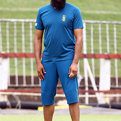 Durban South Africa - December 22,  Hashim Amla (capt) during the South African training session at Sahara Stadium Kingsmead, 22 December 2015. (Photo by Steve Haag) images for social media must have consent from Steve Haag
