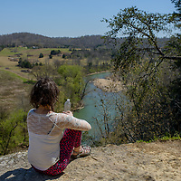 Narrows of the Harpeth State Park Bluff Overlook Trail in Kingston Springs, Tennessee.