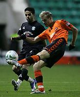 Photo: Paul Thomas/Sportsbeat Images.<br /> Hibernian v Dundee United. Clydesdale Bank Premier League. 24/11/2007.<br /> <br /> Merouane Zemmama (L) of Hibs battles with Christian Kalvenes.