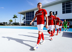 Taylor Moore of Bristol City during the 2nd leg of the match after the previous day's game was abandoned at half time due to extreme weather - Rogan/JMP - 14/07/2019 - IMG Academy, Bradenton - Florida, USA - Bristol City v Derby County - Pre-Season Tour Day 3.