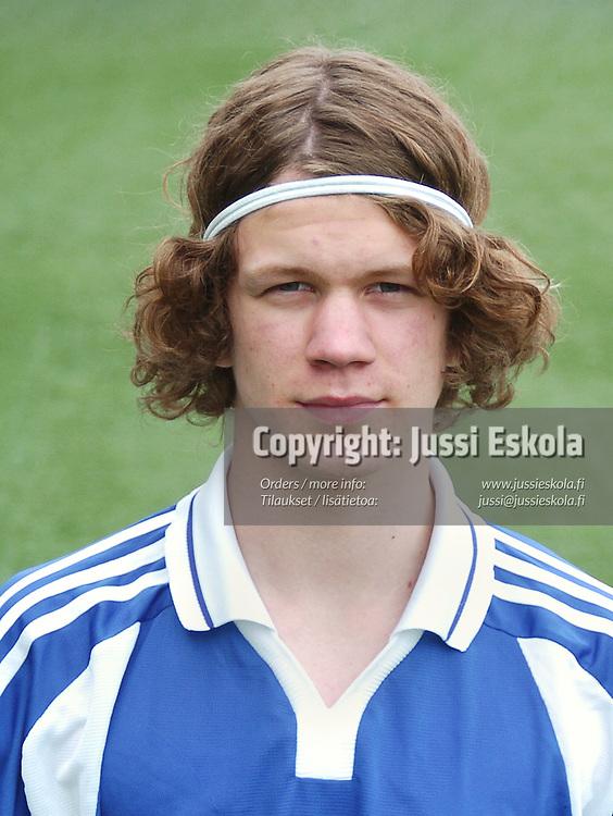 Antti Heiskanen.&amp;#xA;U17-maajoukkue, 4/2005.&amp;#xA;Photo: Jussi Eskola<br />