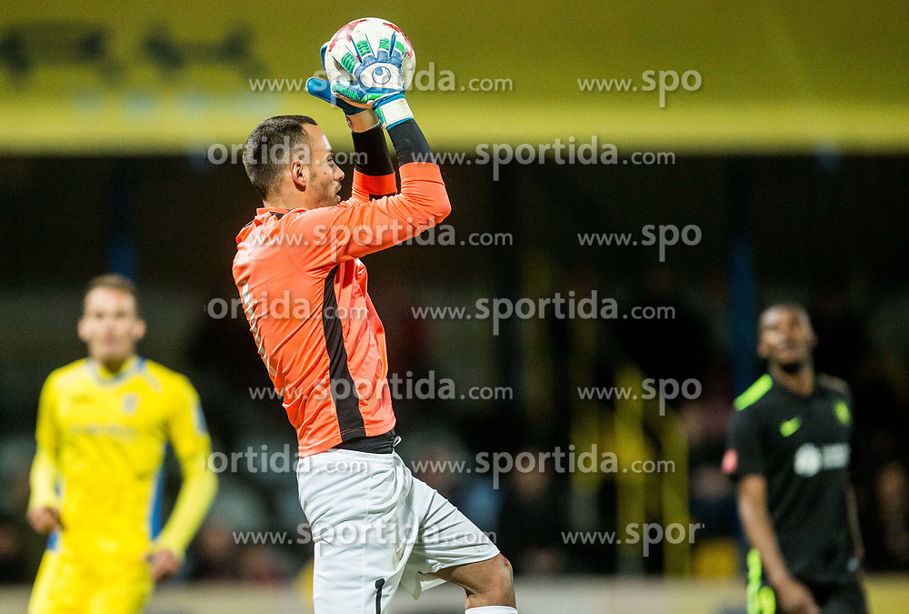 Dejan Milic of NK Domzale during football match between NK Domzale and NK Olimpija Ljubljana in 24th Round of Prva liga Telekom Slovenije 2016/17, on March 12, 2017 in Sports park, Domzale, Slovenia. Photo by Vid Ponikvar / Sportida