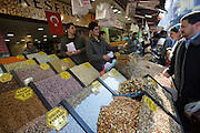 "Istanbul. At the Egyptian Bazar (""Spice Bazar""). Pistache, nuts and dried fruits."