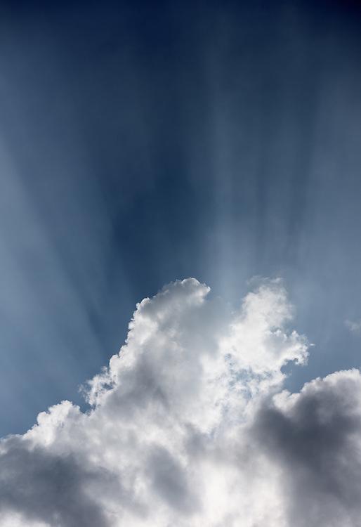 Crepuscular rays, Islay, Scotland
