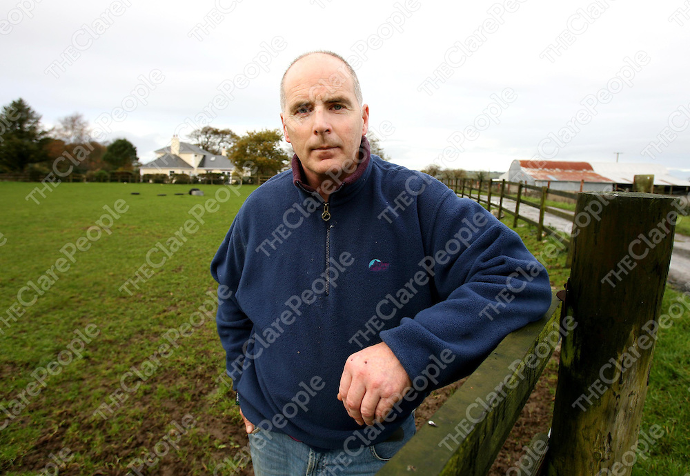Seamus Murphy IFA County Chairman at home in Ballynacally this week.<br />
