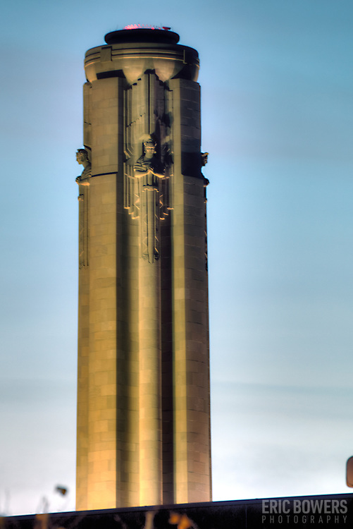 View of Liberty Memorial from Crown Center area, Kansas City, Missouri.