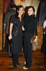 Left to right, ELLA KRASNER and MARIE HELVIN at the opening party of Pengelley's, 164 Sloane Street, London SW1 on 22nd February 2005.<br />