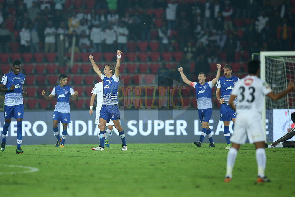 Bengaluru FC players celebrates win during match 19 of the Hero Indian Super League between NorthEast United FC and Bengaluru FC held at the Indira Gandhi Athletic Stadium, Guwahati India on the 8th December 2017<br /> <br /> Photo by: Deepak Malik  / ISL / SPORTZPICS