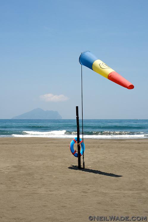 An empty beach near Yilan, Taiwan.