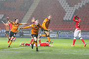 Hull City forward Keane Lewis-Potter (31) celebrates after scoring a goal (2-2) during the EFL Sky Bet Championship match between Charlton Athletic and Hull City at The Valley, London, England on 13 December 2019.