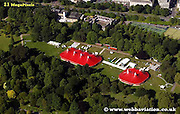 aerial photograph of Bute Park  Cardiff Wales  UK