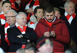 Bristol City major shareholder, Steve Lansdown and Jon Lansdown  - Photo mandatory by-line: Dougie Allward/JMP - Mobile: 07966 386802 - 25/01/2015 - SPORT - Football - Bristol - Ashton Gate - Bristol City v West Ham United - FA Cup Fourth Round