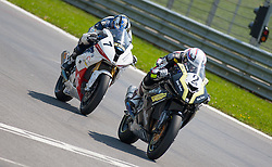 01.07.2012, Red Bull Ring, Spielberg, AUT, IDM Red Bull Ring, Renntag, im Bild Michael Ranseder, (Suberbike, AUT, #2, 1. Platz), Jörg Teuchert, (Suberbike, GER, #11, 3. Platz) // during the IDM race day on the Red Bull Circuit in Spielberg, 2012/07/01, EXPA Pictures © 2012, PhotoCredit: EXPA/ M. Kuhnke