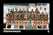 2002 Miami Hurricanes Swimming & Diving Team Photo