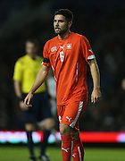 Leonardo Bertone, Swiss U21 International during the UEFA European Championship Under 21 2017 Qualifier match between England and Switzerland at the American Express Community Stadium, Brighton and Hove, England on 16 November 2015.