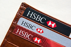 HSBC debit cards, credit card and online banking verifier. HSBC is currently the 3rd most valuable British brand, according to analysts Brand Finance's directory. Picture date: Friday March 10, 2017. Photo credit should read: Matt Crossick/ EMPICS Entertainment.