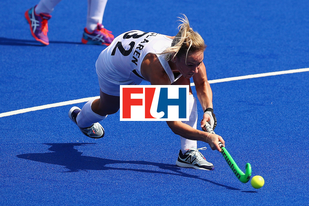 RIO DE JANEIRO, BRAZIL - AUGUST 19:  Anita Mclaren #32 of New Zealand in action during the Women's Bronze Medal Match against Germany on Day 14 of the Rio 2016 Olympic Games at the Olympic Hockey Centre on August 19, 2016 in Rio de Janeiro, Brazil.  (Photo by Tom Pennington/Getty Images)