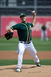 OAKLAND, CA - JULY 23:  Drew Pomeranz #13 of the Oakland Athletics pitches against the Toronto Blue Jays during the first inning at O.co Coliseum on July 23, 2015 in Oakland, California. The Toronto Blue Jays defeated the Oakland Athletics 5-2. (Photo by Jason O. Watson/Getty Images) *** Local Caption *** Drew Pomeranz