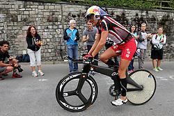 27.07.2014, Zürich, SUI, Ironman Zuerich 2014, im Bild Natascha Badmann (SUI) im Heartbrake Hill // during the Zurich 2014 Ironman, Switzerland on 2014/07/27. EXPA Pictures © 2014, PhotoCredit: EXPA/ Freshfocus/ Claude Diderich<br /> <br /> *****ATTENTION - for AUT, SLO, CRO, SRB, BIH, MAZ only*****