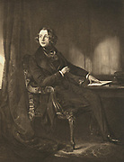Charles Dickens (1812-70) English novelist and journalist, as a young man. Lithograph.