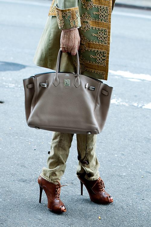 Delfina Blaquier Bag and Shoes, Outside Ralph Lauren