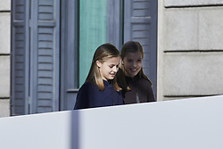 Princess Leonor of Spain and Princess Sofia of Spain attends to 40 Anniversary of Spanish Constitution at Congreso de los Diputados in Madrid, Spain. December 06, 2018. Photo by ALTERPHOTOS/A. Perez Meca/ABACAPRESS.COM