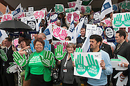 """""""All Together for Public Services"""" photocall at the TUC Conference 2010."""