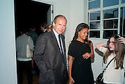 "SIMON DE PURY; RACHEL BARRETT, Video artist Yi Zhou  first solo show ""I am your Simulacrum"".Exhibition opening at 20 Hoxton Square Projects. Hoxton Sq. London. 1 September 2010.  -DO NOT ARCHIVE-© Copyright Photograph by Dafydd Jones. 248 Clapham Rd. London SW9 0PZ. Tel 0207 820 0771. www.dafjones.com."