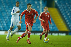 LEEDS, ENGLAND - Tuesday, December 2, 2008: Liverpool's James Ellison in action against Leeds United during the FA Youth Cup 3rd Round at Elland Road. (Photo by David Rawcliffe/Propaganda)