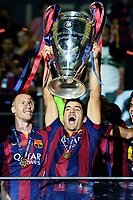 Luis Suarez Esultanza celebration <br /> Berlino 06-06-2015 OlympiaStadion  <br /> Juventus Barcelona - Juventus Barcellona <br /> Finale Final Champions League 2014/2015 <br /> Foto Matteo Gribaudi/Image Sport/Insidefoto