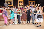 Washington High School Principal Dr. Carlos Phillips II, third from right, honored the school's kitchen staff for winning cafeteria of the year.